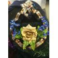 Ритуальный венок в виде глобуса № 1